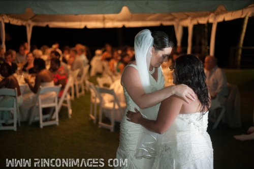 Elizabeth and Adrianas first dance together as Wife and Wife. - LGBT, Same Sex Wedding Photographer Puerto Rico