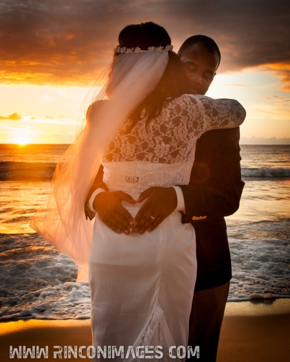 Sunset Beach Portrait - Creative Wedding Photography