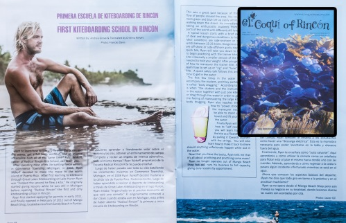 Portrait photography in our local Magazine El Coqui of Rincon