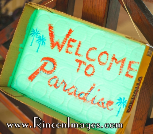 Creative wedding decoration hand painted on a Medalla Box - Rincon, Puerto Rico Wedding Photographer