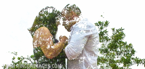 Double exposure from a day before session at the light house park in Rincon, Puerto Rico. Creative Portrait and Wedding Photographer Puerto Rico