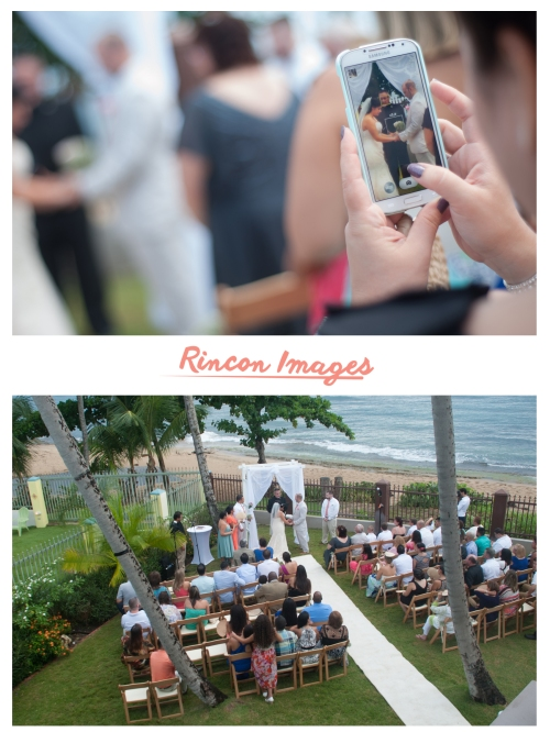 Photograph of a wedding ceremony in Rincon Puerto Rico. Created by a wedding photographer in puerto rico.