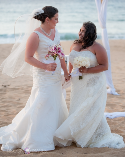Two beautiful LGBT brides after their wedding in Arecibo Puerto Rico.
