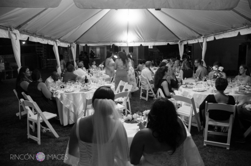 Black and white reception photograph. LGBT wedding photography Puerto Rico.