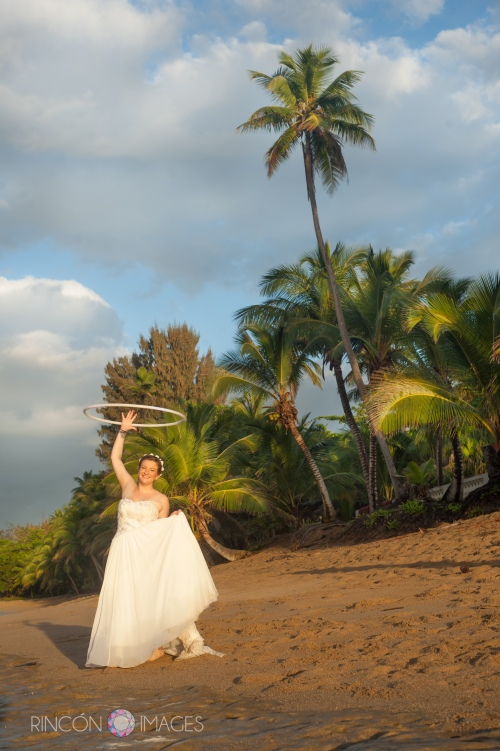 Jill hula hooping on the beach in Rincon, Puerto Rico after her destination wedding. This was  a lot of fun to photograph!