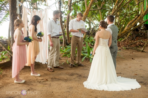 The Barefoot Yoga studio was the perfect location for this quirky wedding. The studio is located right next to the ocean and is shaded by tall sea grape trees. It is a very tranquil and beautiful venue for an intimate wedding.