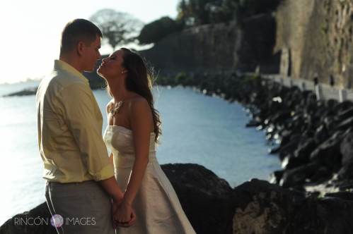 Natural light can really make for fabulous photographs. Knowing where to be at what time of day is what made the beautiful light in this photograph possible. I love photographing new locations, but getting to know a particular area makes it really easy to nail certain shots. Photography by Rincon Images Wedding photographer Puerto Rico.