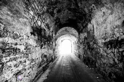 To get into the San Juan cemetery you need to first pass through a tunnel. The tunnel is covered in graffiti and always feels a little creepy to go through, even though during the day it is very safe. Going through the tunnel to reach the cemetery always makes me think of
